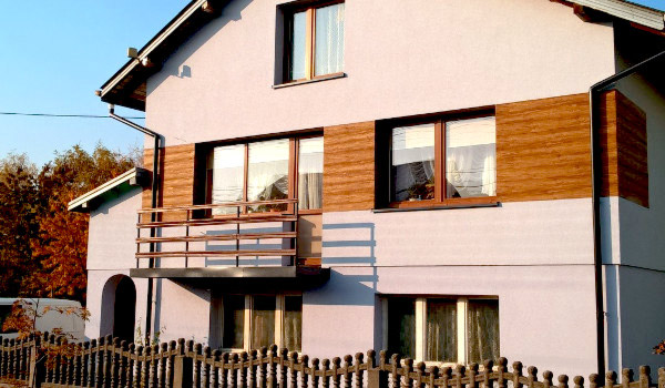 nowoczesne elewacje drewniane szczecin - elewacja drewnopodobna